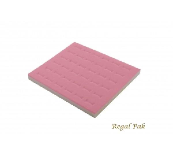 "Half Size Pink Ring Foam Insert (36 Rings) 7-3/4"" X 6-3/4"" X 5/8""H"