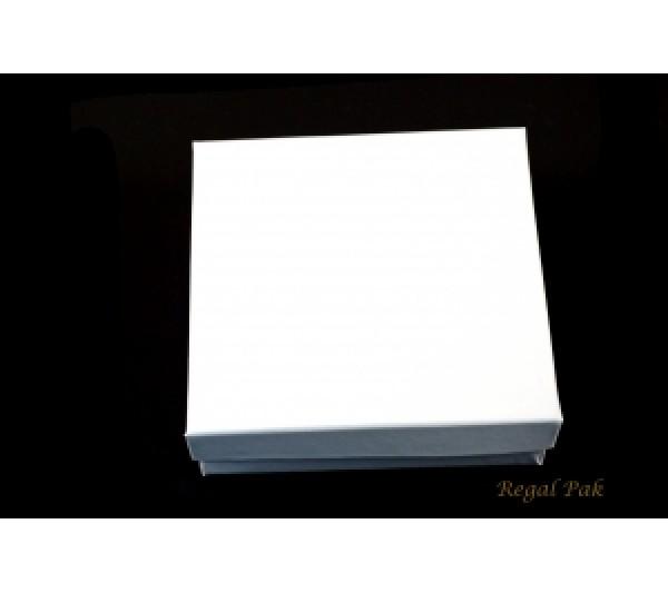 Glossy White Cotton Filled Paper Box 3 1/2 (100 pcs)
