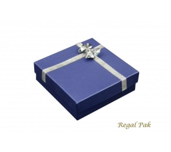 Navy Paper Bow-Tie Bangle Box 3 5/8
