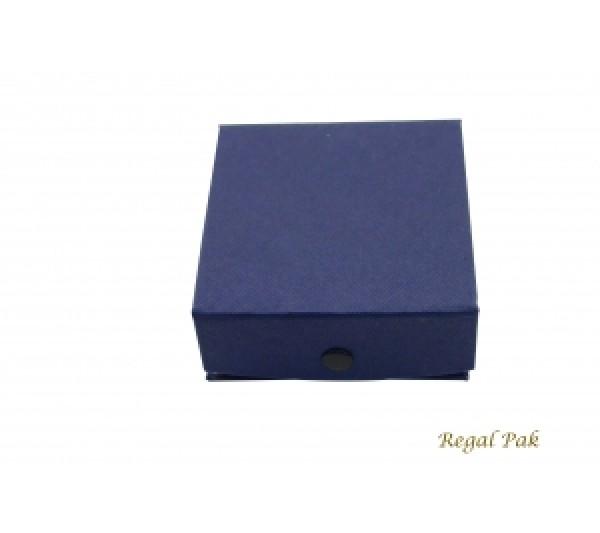 Blue Paper Ring/Pendant Box 3 3/8 (100 pcs)
