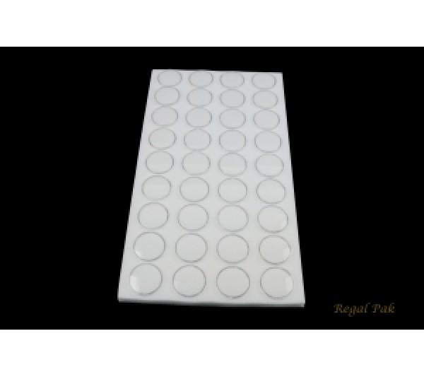 "White Gemstone Jar Liners With 36 Jars 14 1/4"" x 7 3/4"" x 3/4""H;1 3/8""dia jar"
