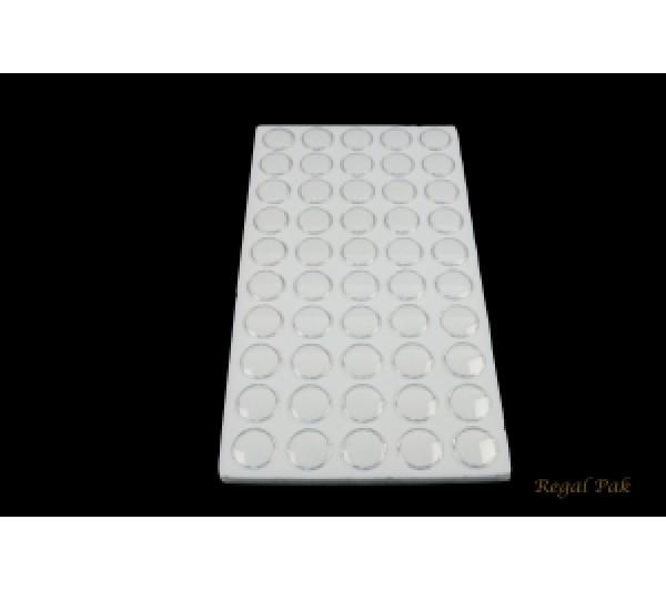 """White Foam W/ 50 Small Jars 14 1/4"""" X 7 3/4"""" X 3/4""""H; 1 1/8""""Dia Jar"""