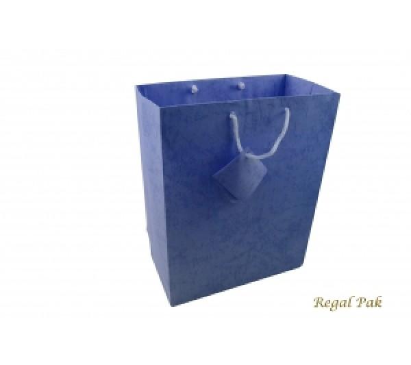 "Blue Shopping Tote 7 3/4"" X 4"" X 9 3/4""H"