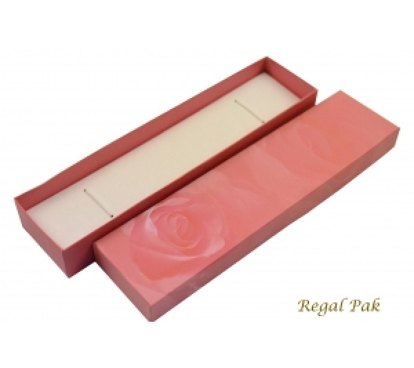 Pink Rose Pattern Paper Watch/Bracelet Box 2 1/8