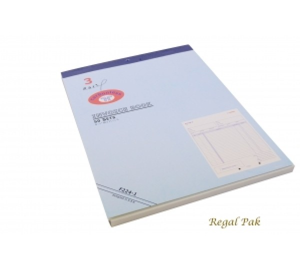 "Extra Large 3-Part Invoice Carbonless Book (50 Sets/Book) 8 1/2"" X 11 5/8"""