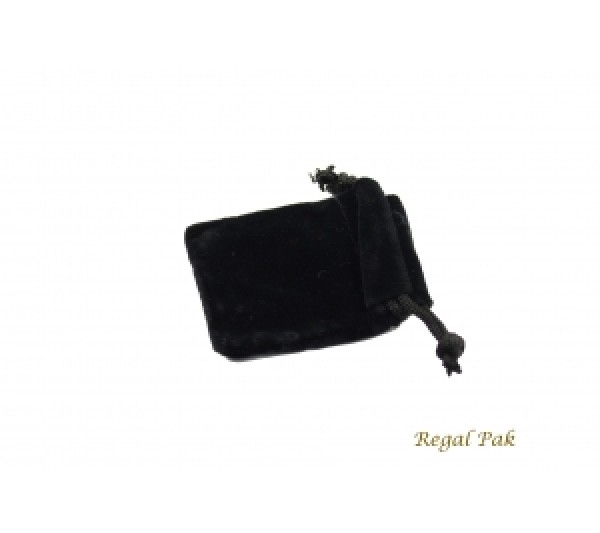 "Black Velvet Drawstring Pouch 1 3/4"" X 2"" (12 Pieces/One Dozen)"