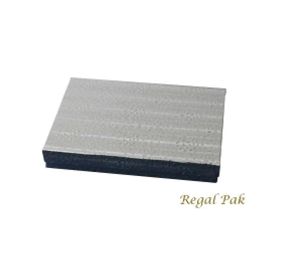"Silver Texture Cotton Filled Box - 6 1/8"" X 5 1/8"" X1 1/8""  (100 pcs)"
