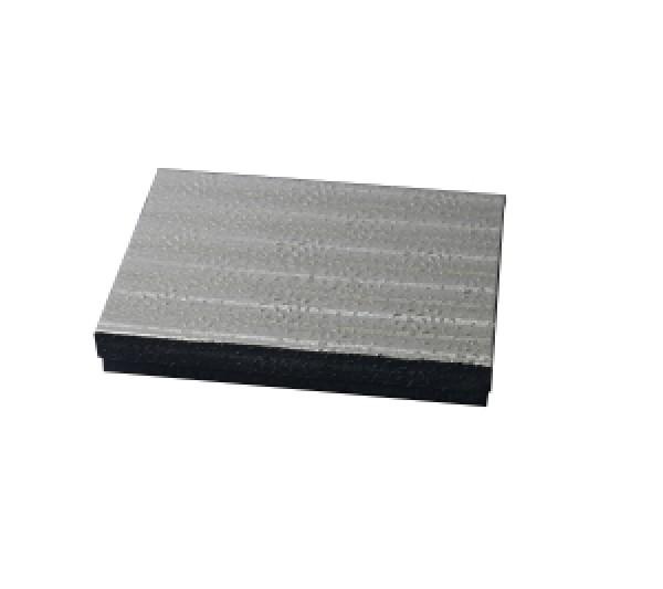 Silver Texture Cotton Filled Box 5 5/8 (100 pcs)