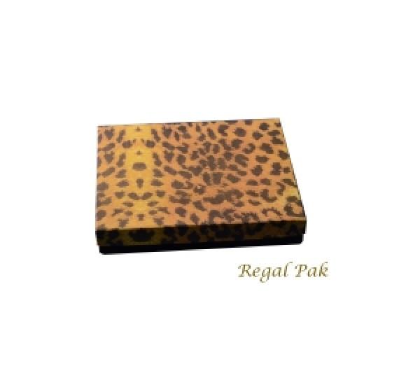 "Leopard Cotton Filled Box  - 6 1/8"" X 5 1/8"" X1 1/8""   (100 pcs)"