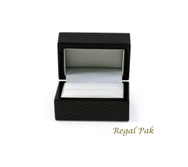 Jackson Collection Wooden Double-ring Box  3  x 2  x 1 3/4