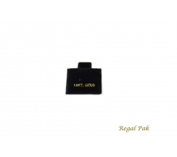 """Black 10 Kt. Gold Earring Puff Cards (100 Pieces In A Pack) 1"""" X 1"""""""