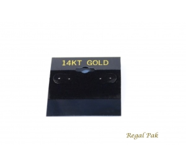 """Black 14k Gold Hanging Earring Cards (100 Pieces In A Pack) 2"""" X 2"""""""
