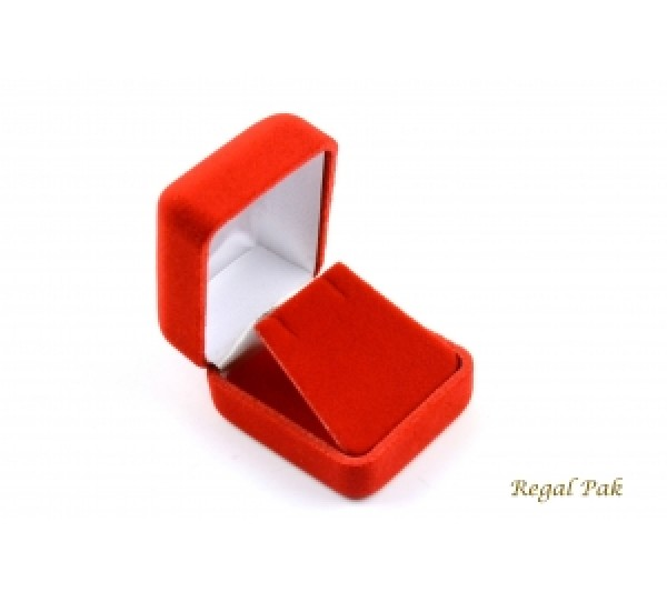 "Richmond Collection Red Earring Box 1 7/8"" x 2 1/8"" x 1 1/2""H"