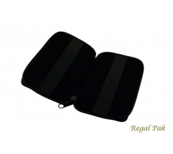 "Black Leatherette Gem Parcel Wallet 4"" X 6 1/2"""