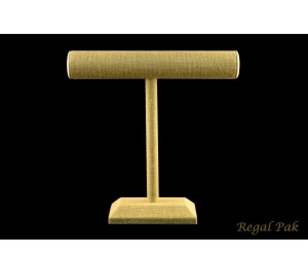 "Burlap Natrual T-Bar Displays For Necklace/Bracelet 12"" X 12"" H"