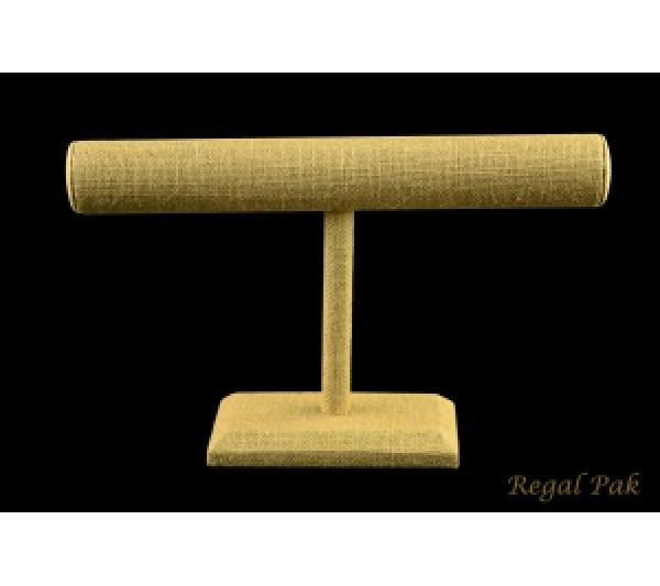 "Burlap Natrual T-Bar Displays For Necklace/Bracelet 12"" X 7"" H"