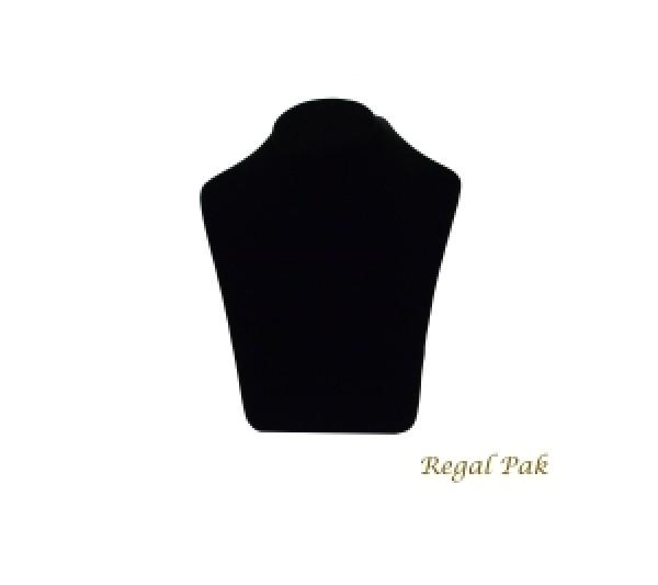 "Black Velvet Coutured Necklace Display 8-3/4"" X 6"" X 10-5/8""H"