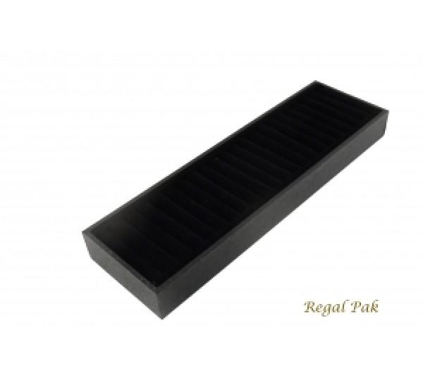 """Black Velvet Long Bangle Tray 15 3/4"""" X 4 1/4"""" X 1 1/2""""H"""