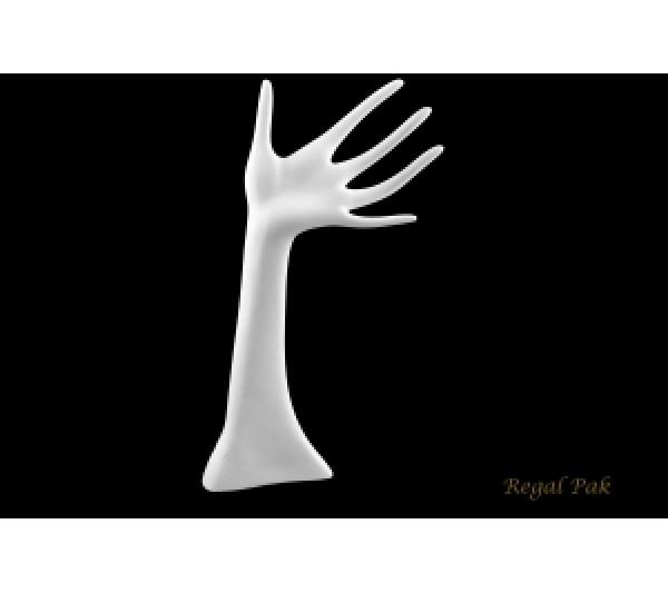 "White Polystyrene Hand Display 6"" X 13""H"