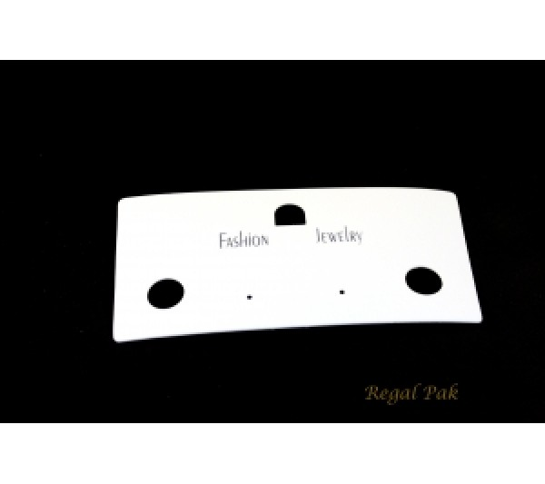"""White Plain Hanging Fashion Jewelry Cards (100 Pieces In A Pack) 5-1/2"""" X 2-3/4""""H"""