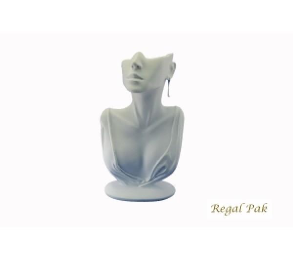 "White Elegant Poly Figure Display 6-7/8"" X 3-1/2"" X 12-1/4""H"