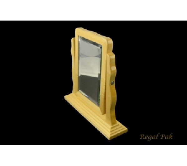 "Wooden Countertop Double Sided Mirror 10"" X 2 3/8"" X 10""H"