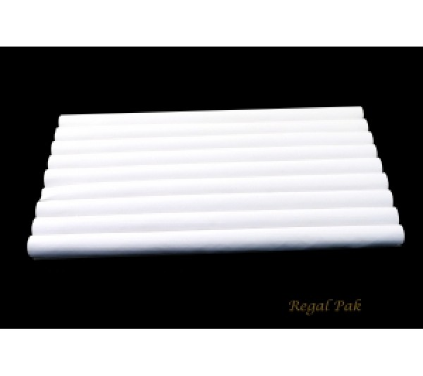 White Leatherette Ring Slot Full Size Foam Pad With 8 Sections 14-1/8''w X 7-5/8''d X 3/4''h