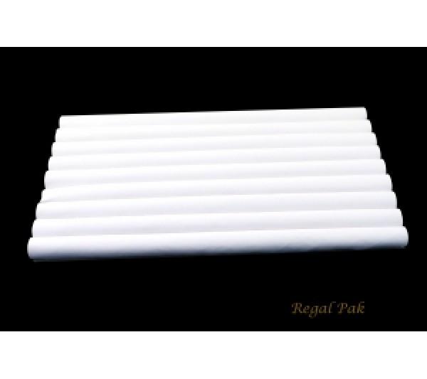 White Velvet Ring Slot Full Size Foam Pad With 8 Sections 14-1/8''w X 7-5/8''d X 3/4''h