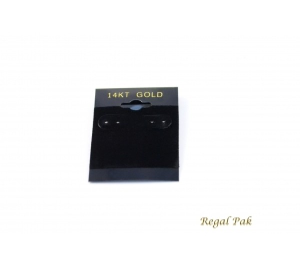 """Black 14k Gold Hanging Earring Cards (100 Pieces In A Pack) 1.5"""" X 2"""""""