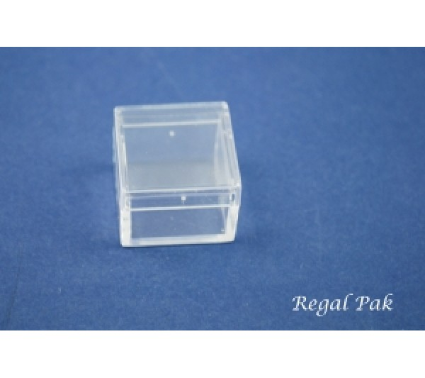 """Clear And Empty Acrylic Square Gem Box 1"""" X 1"""" X 3/4"""""""