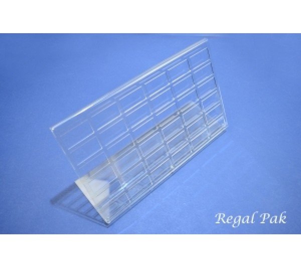 "Clear Acrylic Gem Jar Stand (hold 36 pcs rectangular jar)) 14 1/4"" X 4 1/2"" X 7 5/8""H"