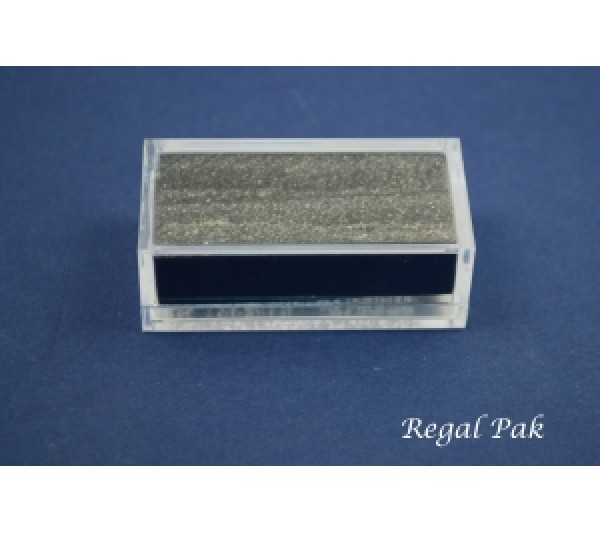 """Clear And Rectangular Acrylic Gem Box With Two Black Foam 2"""" X 1"""" X 23/32""""H"""