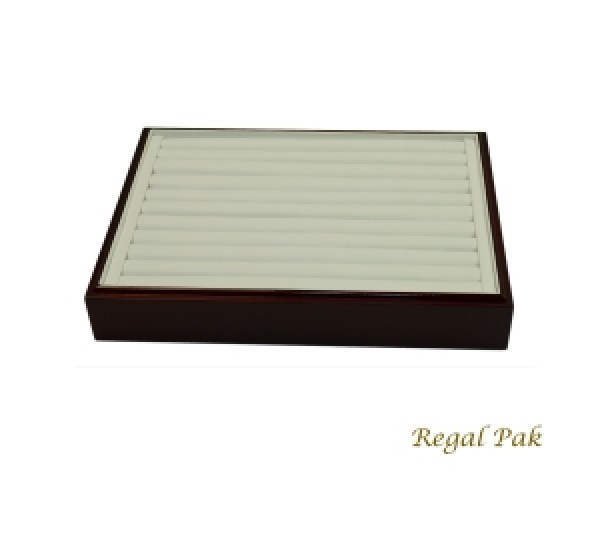 """Rosewood Stackable Ring Tray (10-Row) 12-1/2"""" X 8-3/4"""" X 1-7/8""""H"""