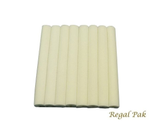 """White Velvet Ring Slot Half Size Foam Pad With 8 Sections 7-3/4"""" X 6-3/4"""""""