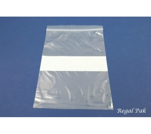 """Reclosable 2 Mil White Band Zipper Bags (100 Pieces In A Pack) 6"""" X 9"""""""