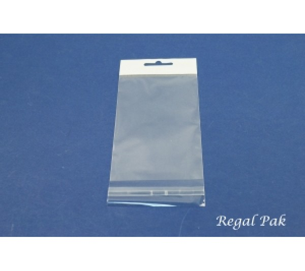 """Clear Opp Bag With Hanging Header (100 Pieces In A Pack) 3"""" X 5"""""""