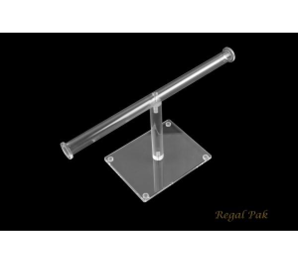 """Acrylic Single Round T Bar For Necklace Display 10""""W X 4 7/8""""H"""