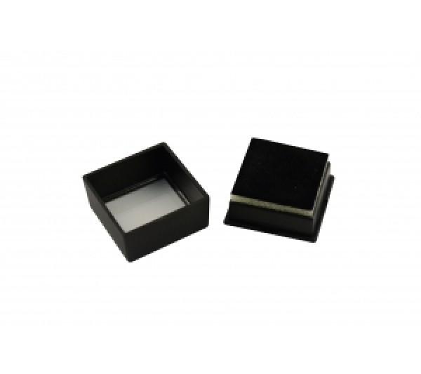 """Glass-Top Flat Foam Gem Box 1 1/2"""" x 1 1/2"""" x 3/4""""H"""