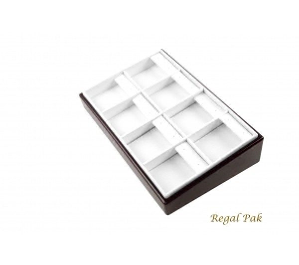 """Rosewood Slanted Earring Tray (8-Pad)  8-1/2"""" X 5-3/8"""" X 2""""H"""