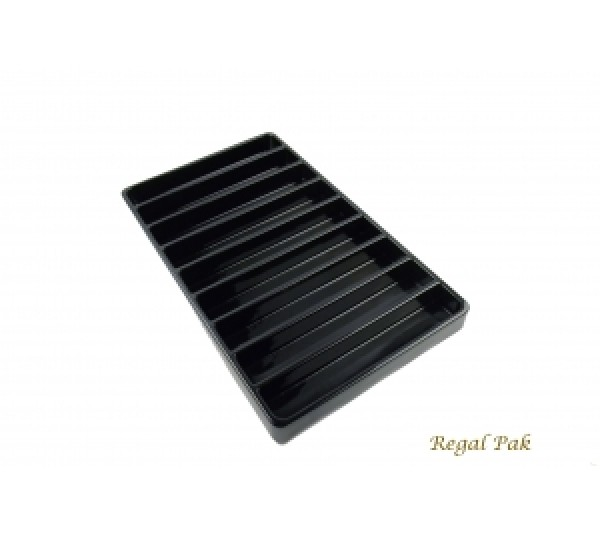 """Black Plastic Stackable Tray (9-Section) 15-7/8"""" X 9-1/2"""" X 1-3/8""""H"""