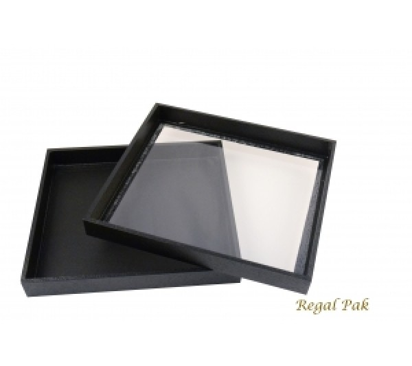 """Black Case With Acrylic Top 8-3/4"""" X 7-3/4"""" X 1-1/4""""H"""