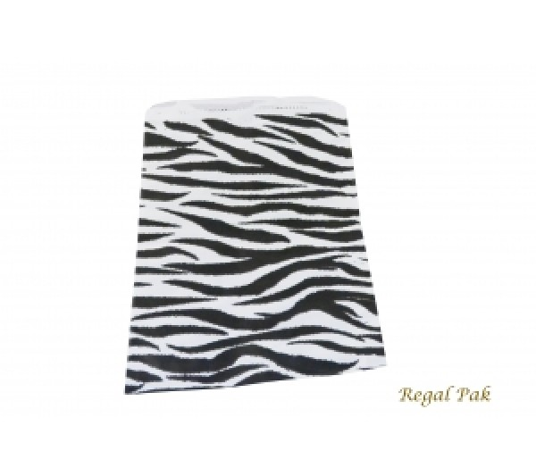 "Zebra Print Jewelry Gift Bag (100 Pieces In A Pack) 6"" X 9"""