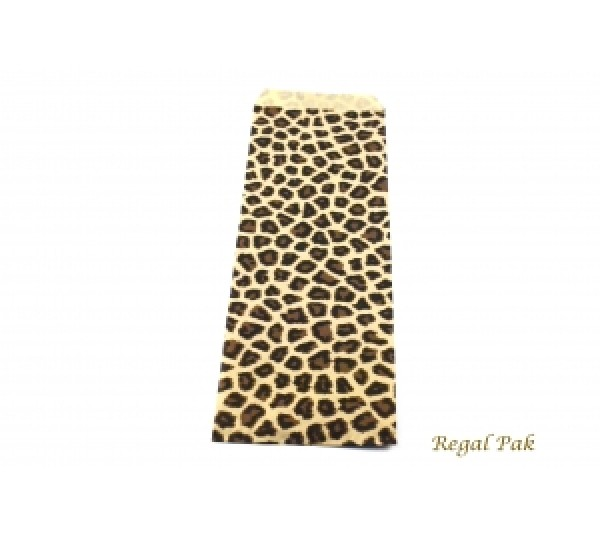 """Leopard Print Jewelry Gift Bag (100 Pieces In A Pack) 4"""" X 11"""""""