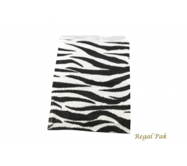 "Zebra Print Jewelry Gift Bag (100 Pieces In A Pack) 4"" X 6"""
