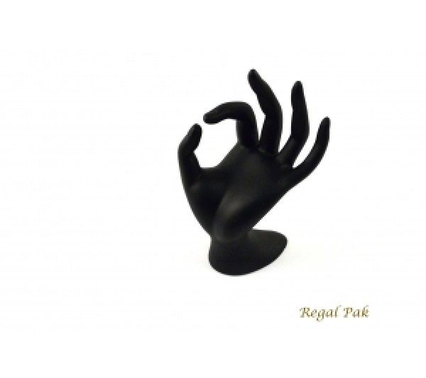 "Black Polystyrene Hand Display 3-1/8"" X 4"" X 6-1/2""H"