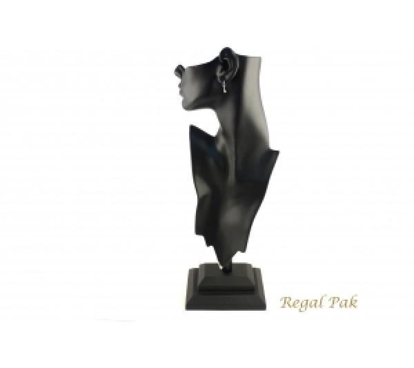 "Black Elegant Poly Figure Display 8-1/4"" X 5-1/2"" X 19-1/2""H"
