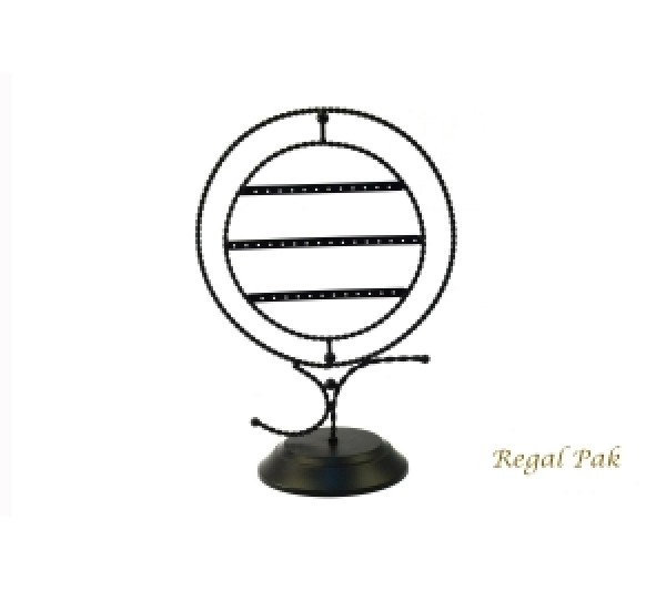 """Black Metal Earring Wire Stand (20 Pairs) 10-3/4"""" X 6"""" X 15-1/4""""H"""